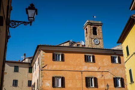 GUARDISTALLO, Pisa, Italy - Plebiscito Square and the tower of the Castle