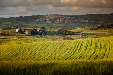 Casale Marittimo - Panoramic view of the old historic village recognized as one of the most beautiful villages in Italy, Tuscany