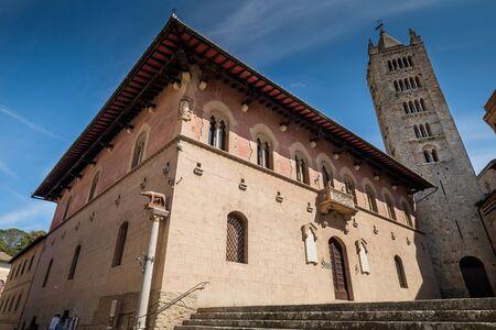 MASSA MARITTIMA, ITALY - May 14, 2017: Tuscany, the Duomo Squadre at Saint Cerbone Cathedral, medieval town of Massa Marittima in Italy  Stock Photo