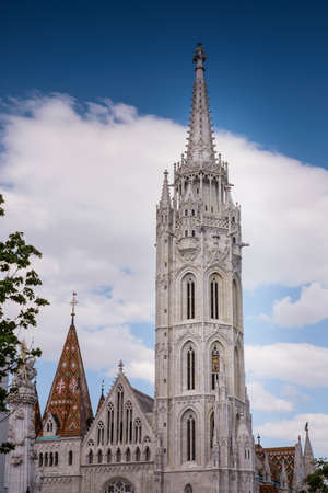Budapest, capital of Hungary, Matthias Church in Budapests Castle Stock Photo