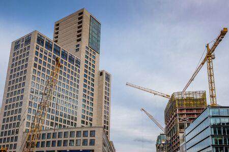 bode: BERLIN, GERMANY - SEPTEMBER 23, 2015: Modern building on construction sites near Postdamer Platz