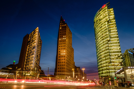 BERLIN, GERMANY - SEPTEMBER 24, 2015: skyline of the financial district with Potsdamer Platz in Berlin, Germany