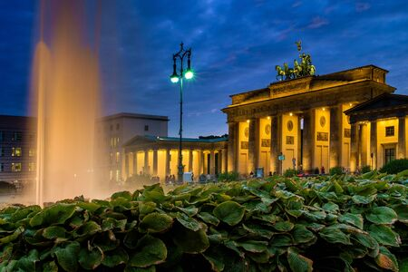BERLIN, GERMANY - SEPTEMBER 23, 2015: Famous Brandenburger Tor (Porta di Brandeburgo), one of the most famous monuments and national symbols of Germany Editorial