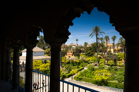 Seville, Andalusia, Spain - detail and courtyard of the Royal Alcazar up to the nineteenth century Reklamní fotografie
