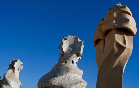 Barcelona, Catalonia, Spain - La Pedrera Casa Mila, Gaudi building in Barcelona Editorial