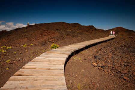 Tenerife, Canary Islands, Spain - North-west coast  with the old lighthouse at the Rural Park in Tenerife