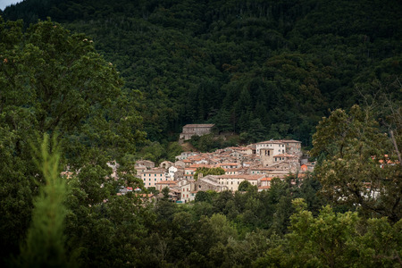 Montieri, Grosseto, Tuscany - ancient village between oaks and beeches and dried chestnut trees that connects the sea of Follonica with a single road