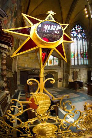 Interiors of St Vitus Cathedral, Wenceslaus and Adalbert, Prague, Czech Republic