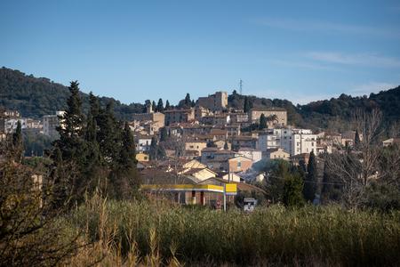 Panoramic view  of the village of Suvereto, Livorno, Tuscany Stock Photo - 119950584
