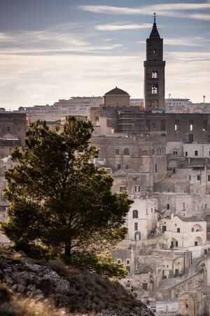 The city of Matera, in the province of Basilicata, Italy,  2019 European Capital of Culture. , the Cathedral, 13th century Stock Photo