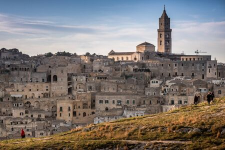 The city of Matera, in the province of Basilicata, Italy,  2019 European Capital of Culture. the Cathedral, 13th century