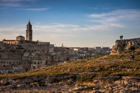 The city of Matera, in the province of Basilicata, Italy,  2019 European Capital of Culture.  the Cathedral, 13th century Stock Photo