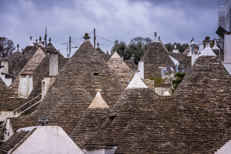 Trulli domes, traditional houses built with dry stone and conical roof, Alberobello, Valle Itria, small town close to Bari district in Southern Italy, Puglia, Apulia, Italy, Europe Reklamní fotografie