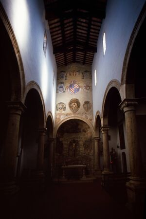 The church of Santa Maria e San Rocco is a sacred building located in Pitigliano, in the province of Grosseto. Tuscany, Italy