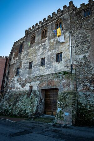Montalto di Castro dominated by the Guglielmi Castle probably built in the 15th century by the Orsini, enclosed between the coasts of the Tyrrhenian sea, the waters of the Fiora river and the countryside of the Maremma Latium