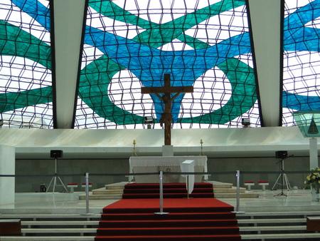 oscar niemeyer: cathedral church in Brasilia, Federal District Brazil