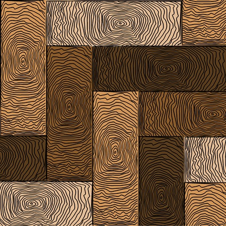 木製色の寄木細工の床、アートの図