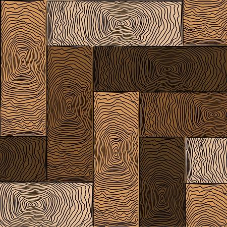 wooden colored parquet, art illustration