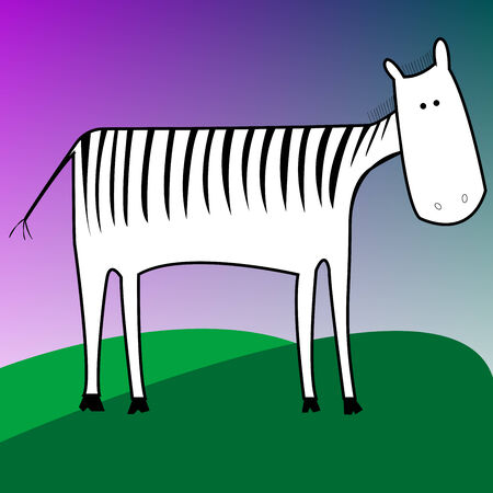 drawing of a zebra, vector art illustration; more drawings in my gallery