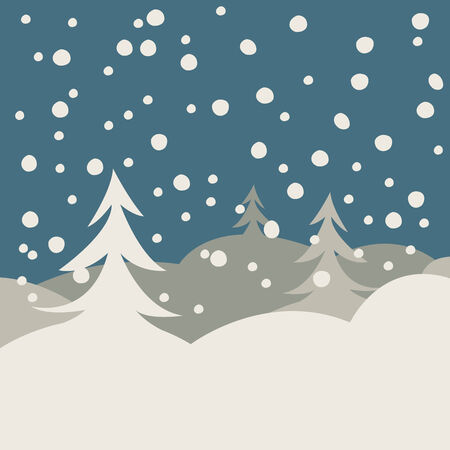 winter illustration card, vector art illustration