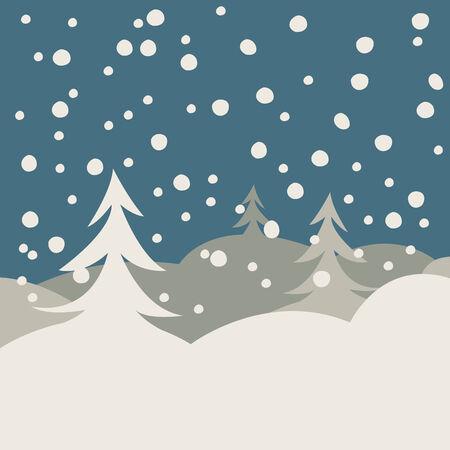 winter illustration card, vector art illustration Vector