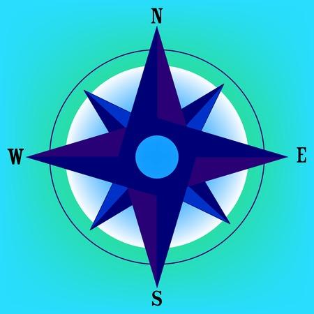 rosa de los vientos: Rosa de los vientos, ilustración de arte vectorial