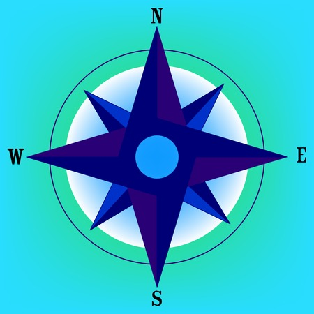 wind rose, vector art illustration