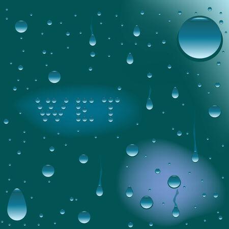 wet surface, vector art illustration Vector