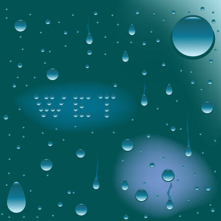 wet surface, vector art illustration Illustration
