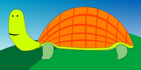 drawing of turtle, vector art illustration; more animal and bird drawings in my gallery. Vector