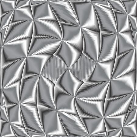 twisted metallic texture, vector art illustration  イラスト・ベクター素材