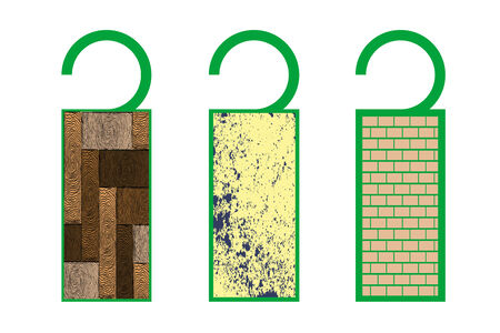 tags with texture (wood) Illustration