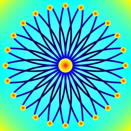 stylized sun background, vector art illustration