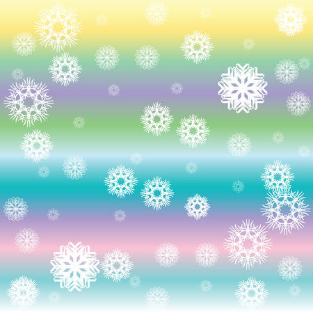 stripes and white snow flakes, vector art illustration Vector