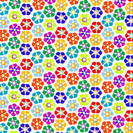 strange flowers pattern, vector art illustration; more patterns and textures in my gallery Stock Vector - 6072115
