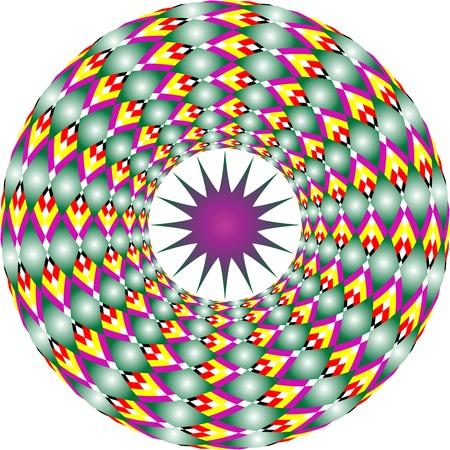 star and circles, vector art illustration Stock Vector - 6072105