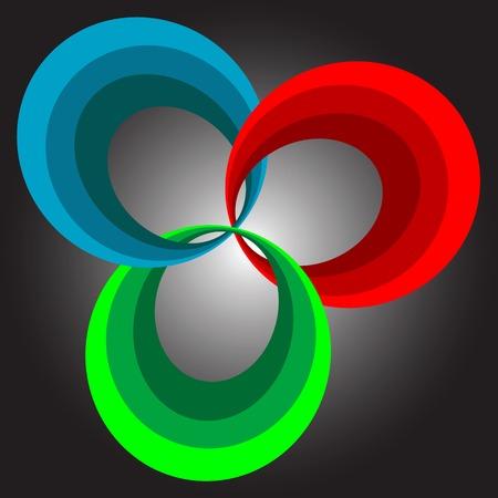 spectral background, vector art illustration