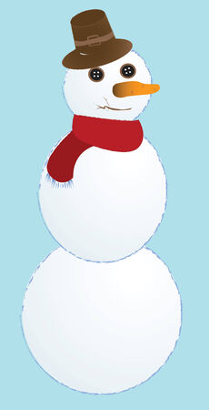 snow man, vector art illustration Stock Vector - 6072144