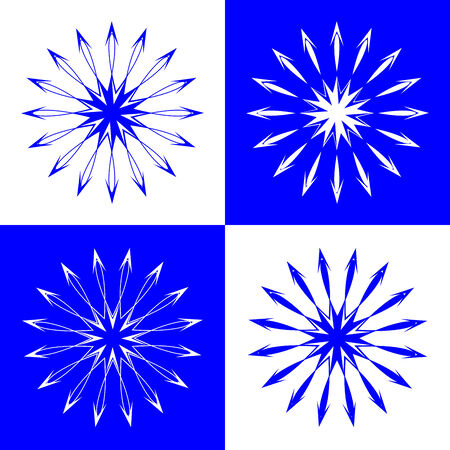 snow flakes, vector art illustration; easy to change colors