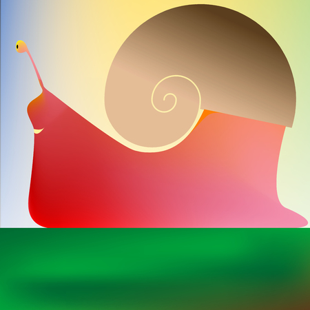 happy snail, vector art illustration Vector