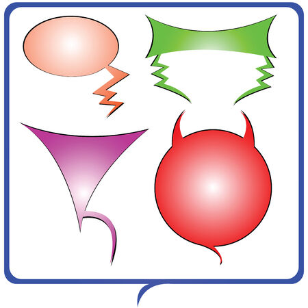 shaped text bubbles drawing, vector art illustration Vector