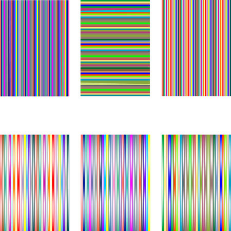 set of 6 diferent stripes isolated on white, vector art illustration; more stripes and textures in my gallery Stock Vector - 6072185