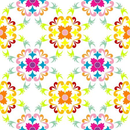 seamless floral pattern, vector art illustration Vector