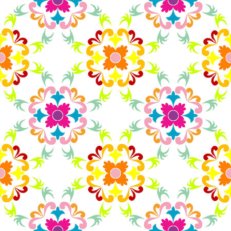 seamless floral pattern, vector art illustration Stock Vector - 6086361
