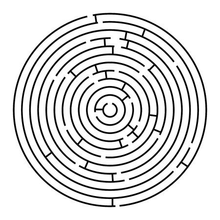 円形の迷路 ベクトル アート イラスト 簡単に色を変更するにはのイラスト素材 ベクタ Image