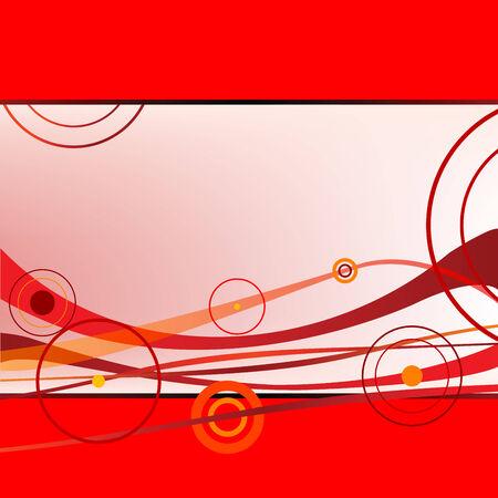Rode golven en cirkels, vector illustraties afbeelding; meer tekeningen in mijn galerie Stock Illustratie