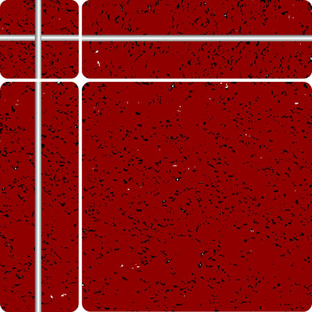 red stone tipe ceramic tiles, vector art illustration, easy to modify colors