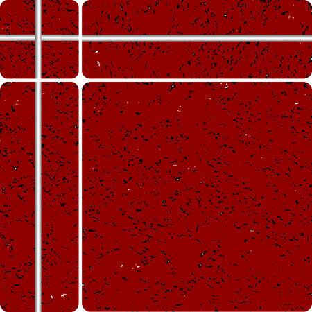 stein schwarz: rote Stein Tipe Keramikfliesen, Vektor-Kunst-Illustration, einfach Farben �ndern