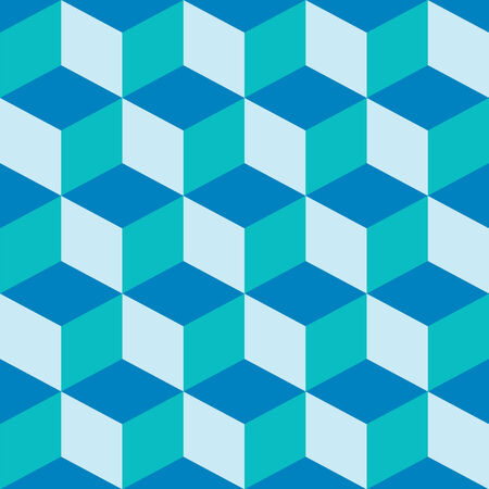 psychedelic pattern mixed blue, vector art illustration; easy to change colors; groups Vector