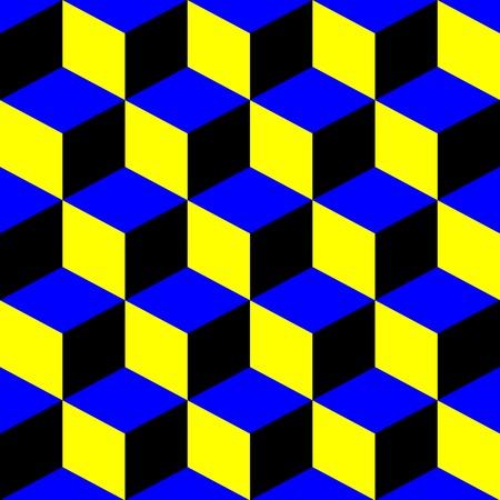 Plazas psihedelic patrón, ilustración de arte vectorial; patrones de más y texturas en mi galería  Foto de archivo - 6110539